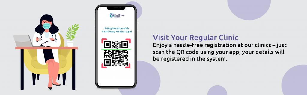 scan qr code using healthway medical app banner