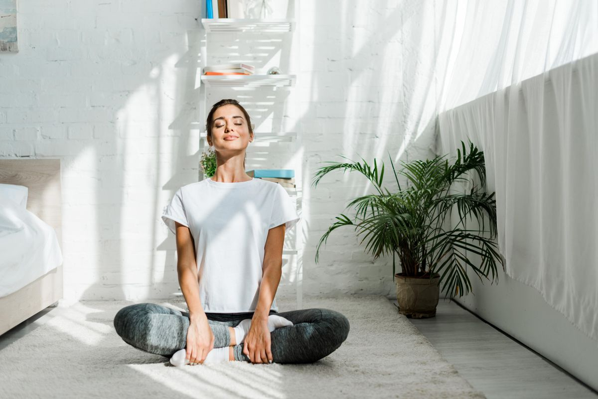 new year health resolutions an image of a female being happy and content healthy mindset