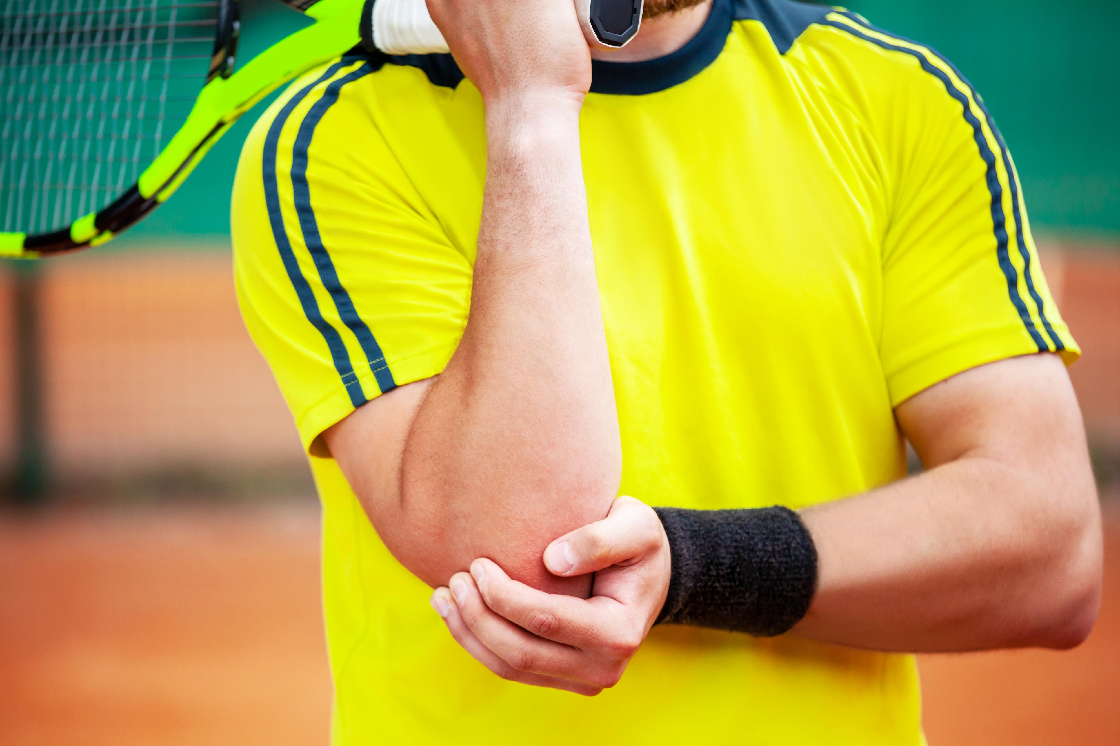 tennis injuries on elbow
