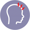 icon for headaches giddiness or dizziness to video consult or telemedicine with doctors using healthway medical app